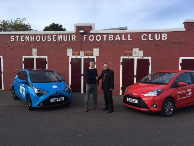Stenhousemuir FC Welcome Warriors 11 Partner SDM