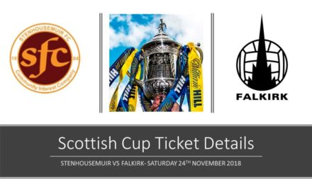 SCOTTISH CUP- TICKET UPDATE