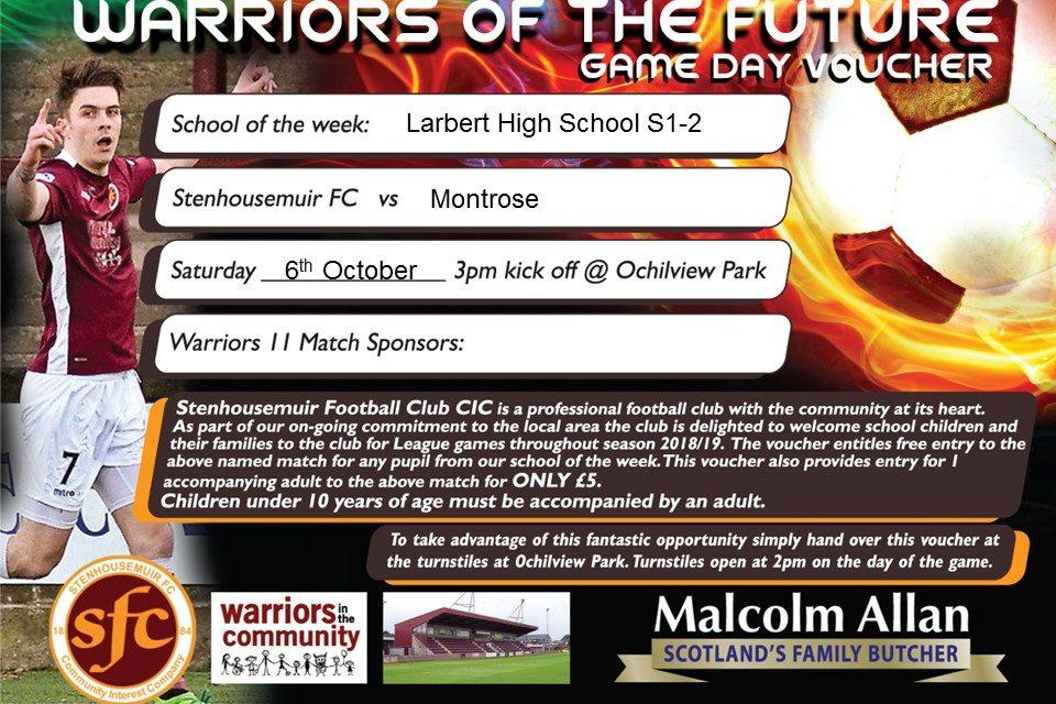 Larbert High Tickets for Schools