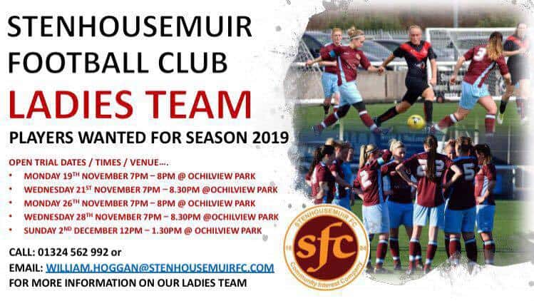 LADIES TEAM – PLAYERS WANTED