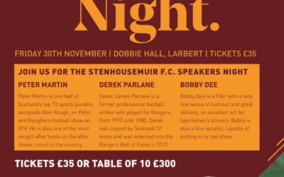 JOIN US as we bring back our popular Speakers Night