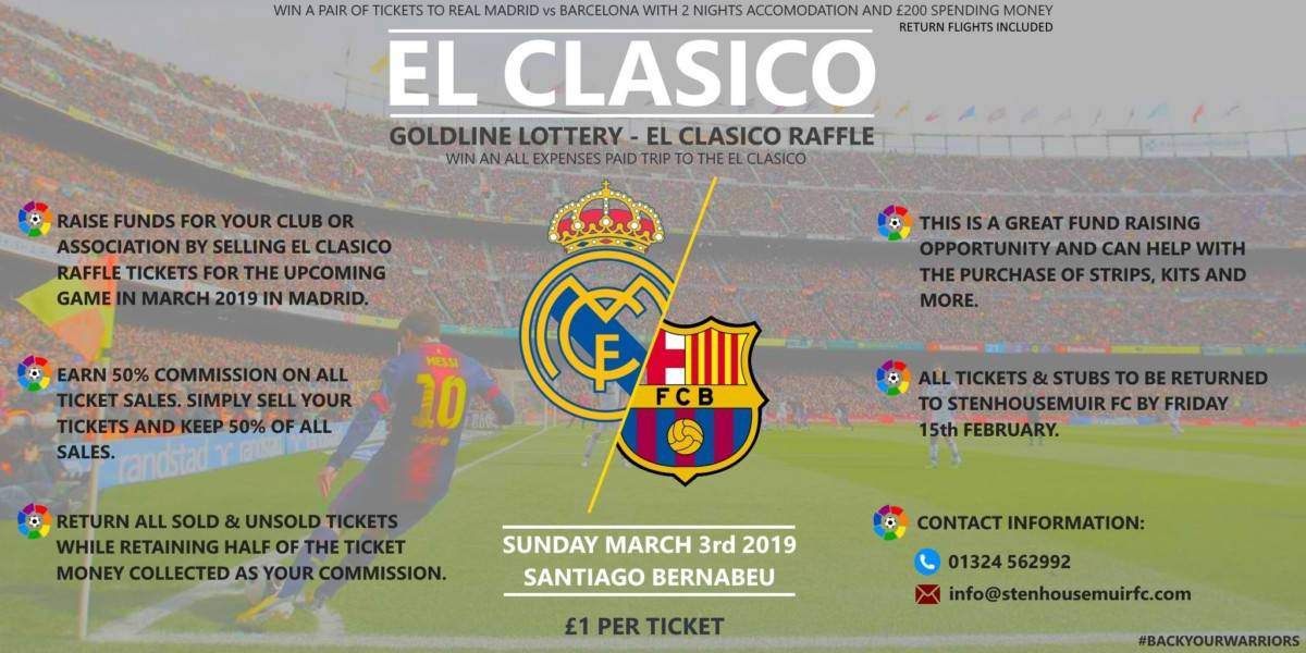 El Clasico Raffle- BUY TICKETS OVER THE PHONE
