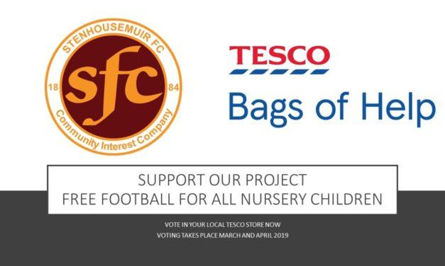 Warriors Win TESCO Bags- Free nursery football available