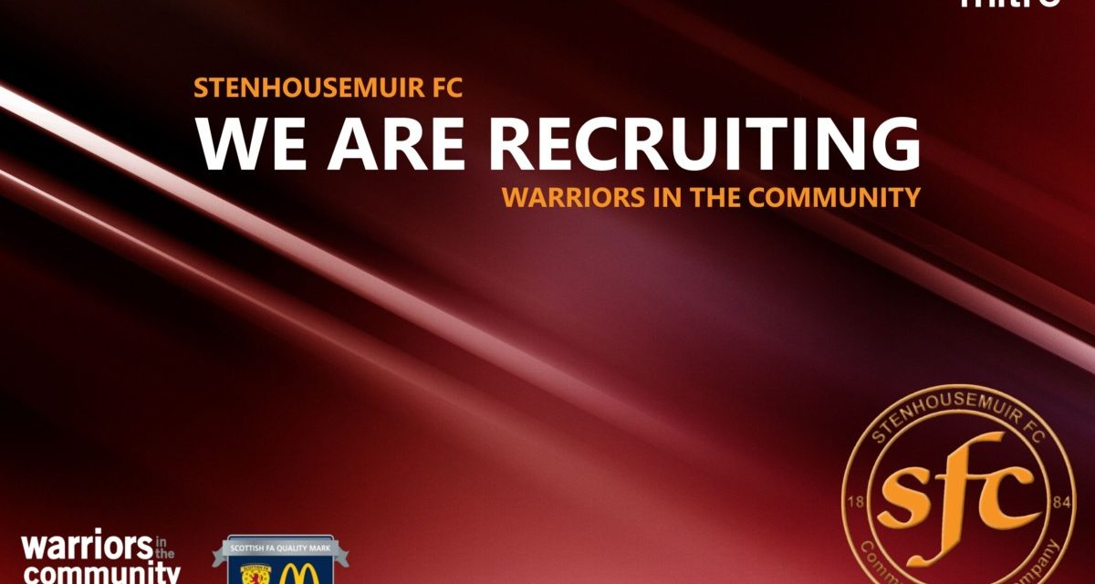 Job Vacancy: Part Time Community Coach