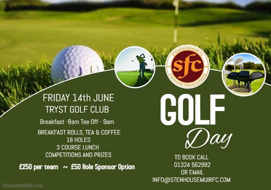 Warriors Golf Day- 5 team spaces left!!!