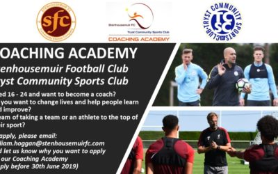 Stenhousemuir FC & TCSC Launch Coaching Academy