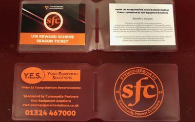 Under 16 Reward Scheme Season Tickets- Get yours before Saturday