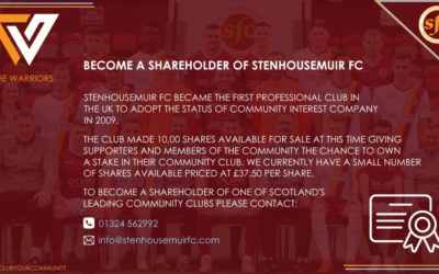 STENHOUSEMUIR FC SHARES FOR SALE