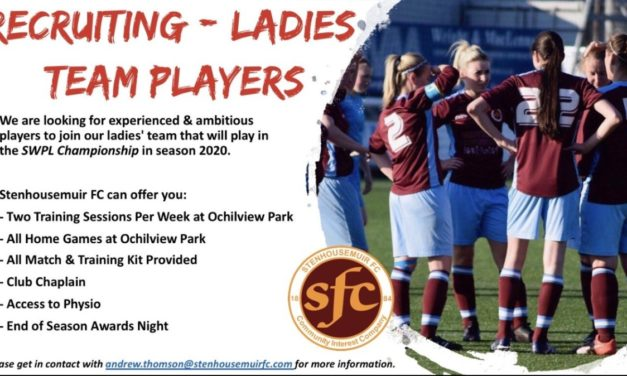 Stehousemuir FC – Recruiting Ladies Team Players