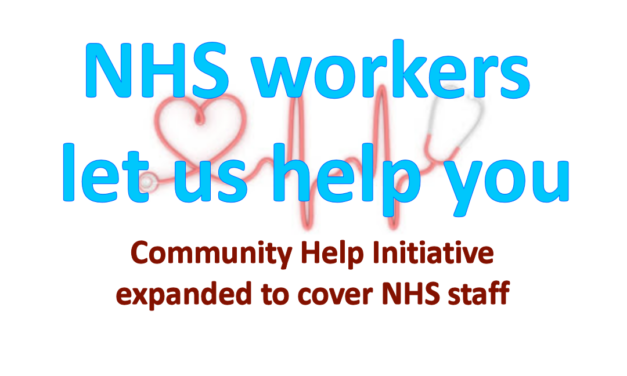 Community Initiative Expanded to NHS staff