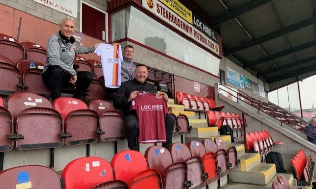 LOC Hire enters year 2 as Principal Sponsor of Stenhousemuir FC