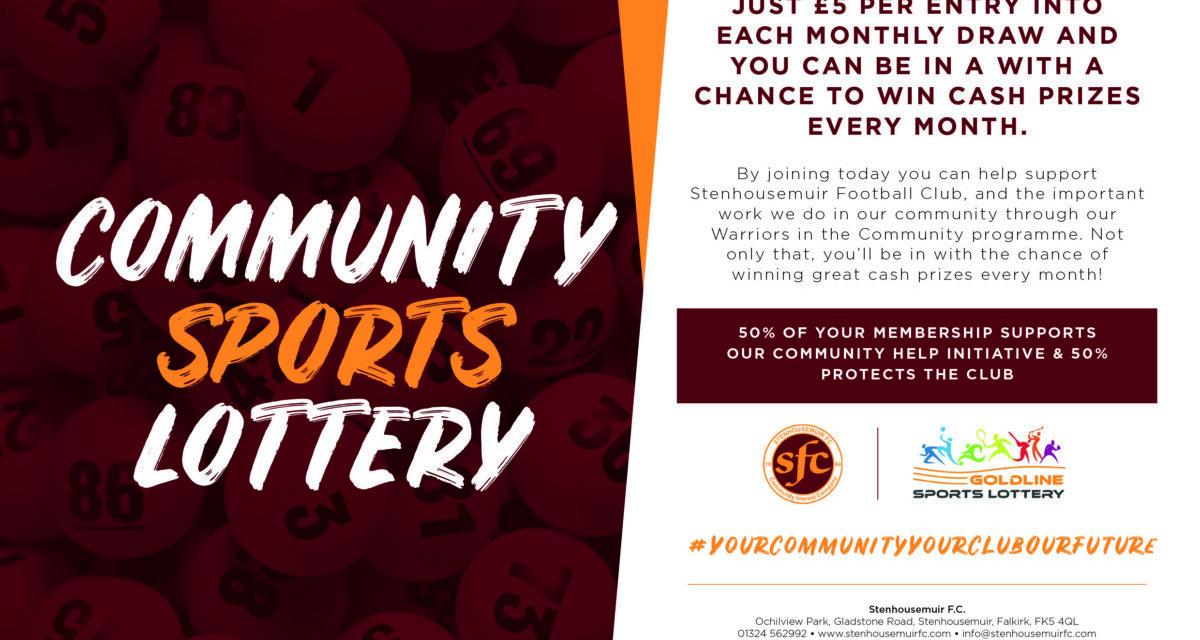 Community Sports Lottery Winners – March