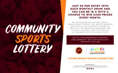 Community Sports Lottery Winners – April 2021
