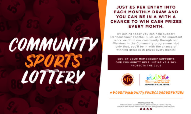 Join our Community Sports Lottery