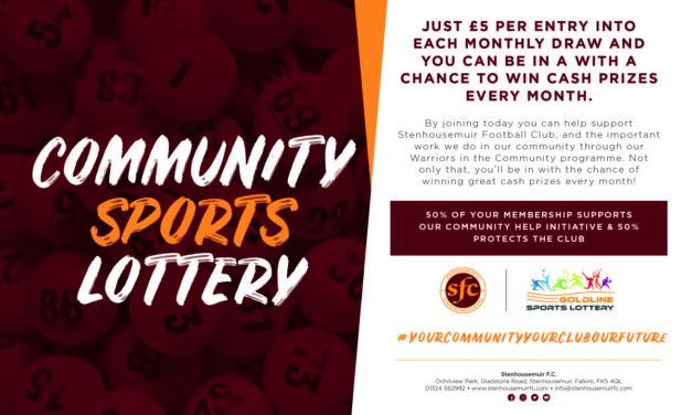Community Sports Lottery Winners – October 2020