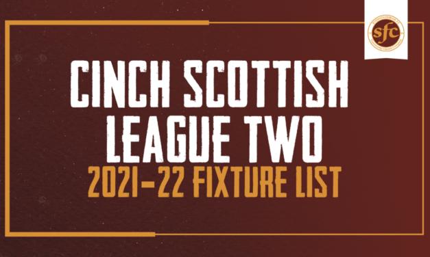 2021-22 Fixture List Announced