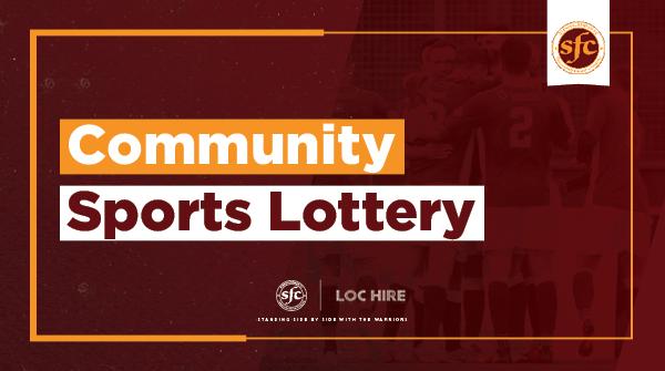 COMMUNITY SPORTS LOTTERY WINNERS- SEPTEMBER 2021