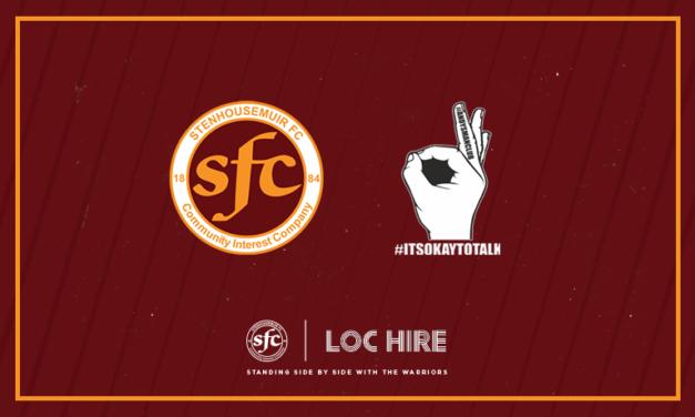 Stenhousemuir FC joins Andy's Man Club